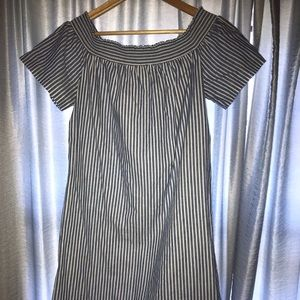 J Crew off the shoulder dress